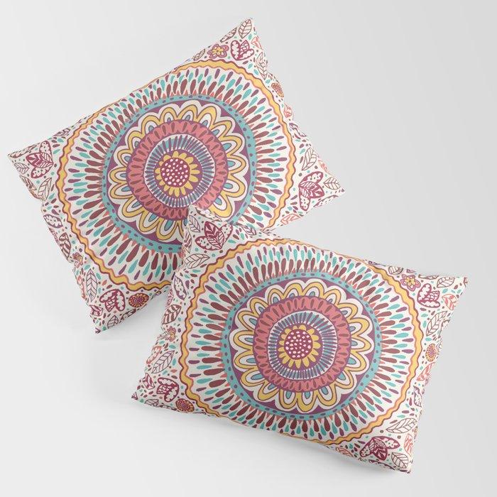 Sunflower Mandala Pillow Sham