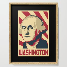 George Washington Retro Propaganda Serving Tray