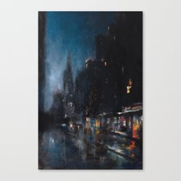 Blue Manhattan Canvas Print
