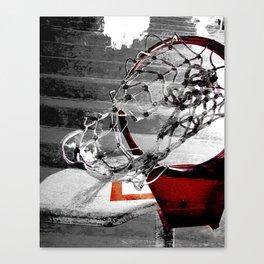 Basketball art swoosh vs 2 Canvas Print