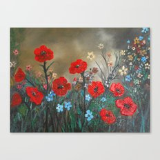 Impasto Poppy Love - Talins Poppy Love Canvas Print