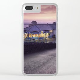 Mumbles Pier and Beach Hut Cafe Clear iPhone Case