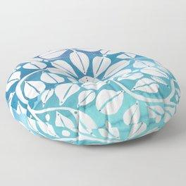 Blue Zellige Floor Pillow