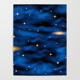 Space nebula background. Poster