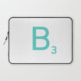 Custom Blue Scrabble Letter B Laptop Sleeve
