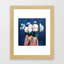 Posy III / Midnight Blooms Framed Art Print