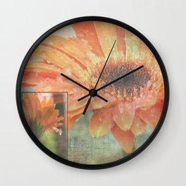 Drops of Rain Wall Clock