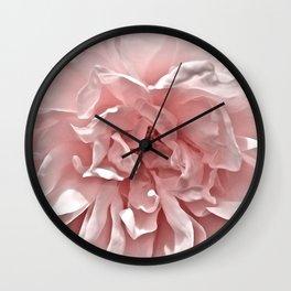 Pink Blush Rose Wall Clock
