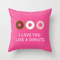 food Throw Pillows featuring food by mark ashkenazi