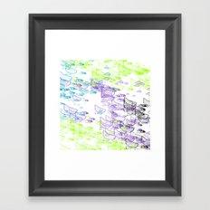 Rock Pattern Inverted Framed Art Print