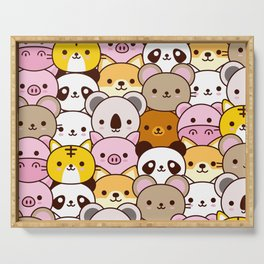 Cute baby animals  Serving Tray