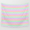 Coral Peach Pink and Lavender and Mint Green Chevron by decampstudios