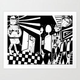 Doors wide shut Art Print