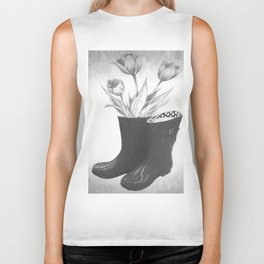 These boots are made for flowers Biker Tank