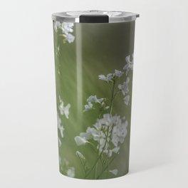 White meadow flowers Travel Mug