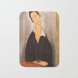 """Amedeo Modigliani """"Portrait of a Polish Woman"""" Bath Mat"""