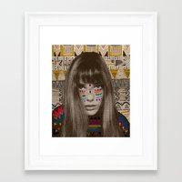 jane davenport Framed Art Prints featuring JANE by Kris Tate