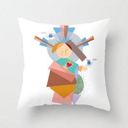 Baby Jesus Geo-1 Throw Pillow