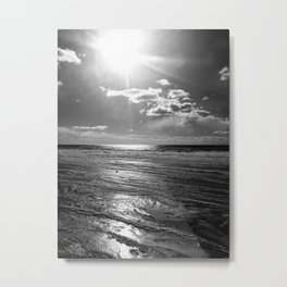 Sun on ice Metal Print