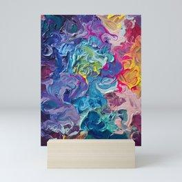 Aurora Swirls Mini Art Print