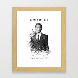 Barney Stinson - Legendary! Framed Art Print