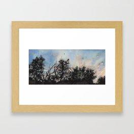 The Pasture At Sundown Framed Art Print