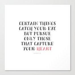 Heart Captured Canvas Print