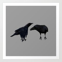 black birds incognito Art Print