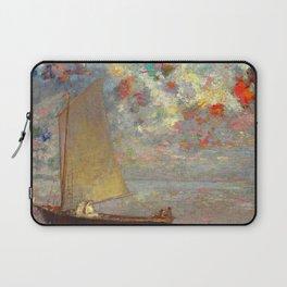 """Odilon Redon """"La Barque Aux Deux Femmes Blanches"""" Laptop Sleeve"""