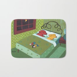 Night Time with Dogs Bath Mat