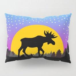 Moose Moon Light Pink and Light Blue Pillow Sham