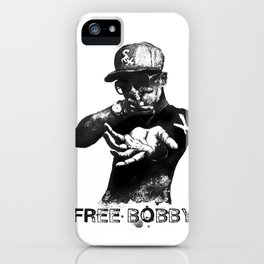 Free Bobby Shmurda Lithograph iPhone Case