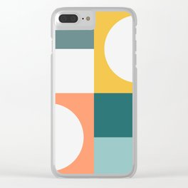Modern Geometric 53 Clear iPhone Case