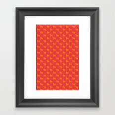 Dogs-Red Framed Art Print