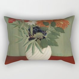 Bouquet of Flowers with China Asters and Tokyos Rectangular Pillow