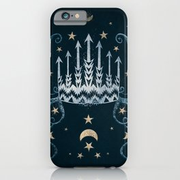 Moon and Stars Crown iPhone Case