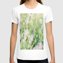 Spider Web in Lavender Field | Fine-art Nature Photography T-shirt