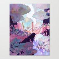 bridge Canvas Prints featuring Bridge by sarlisart