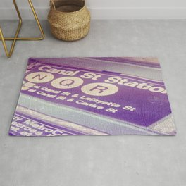 Canal St Subway New York City Rug