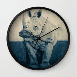 Cerato Gray in Black and White Wall Clock
