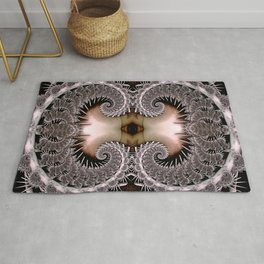 Lace Spiral Yellow Rug