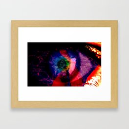 Diving Into the Pool of Your Eye Framed Art Print