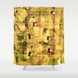 golden flower kaleidoskope Shower Curtain
