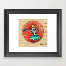 Ugly princess is looking for love Framed Art Print