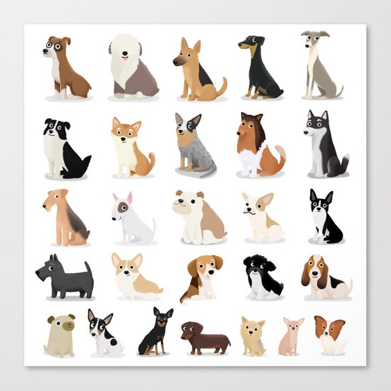 Dog Overload - Cute Dog Series Canvas Print