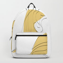 One-Line Art Woman Half Face Backpack