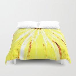 Wheat Sunburst Bright Yellow Duvet Cover