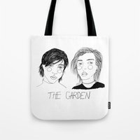 cactei Tote Bags featuring The Garden by ☿ cactei ☿