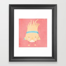 Sporty Birdie Framed Art Print