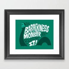 Barackness Monster Framed Art Print